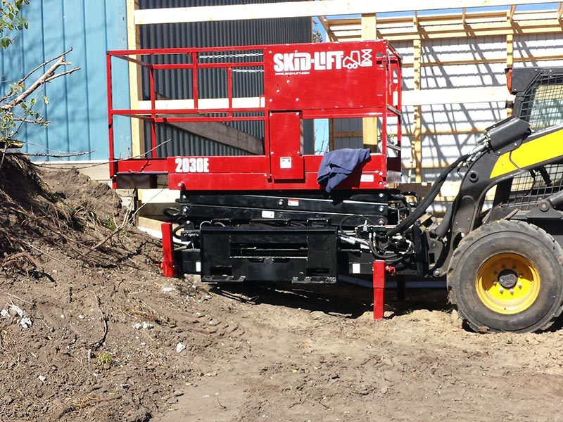 Easy-Adjust Legs on the Skidsteer Lift Attachment