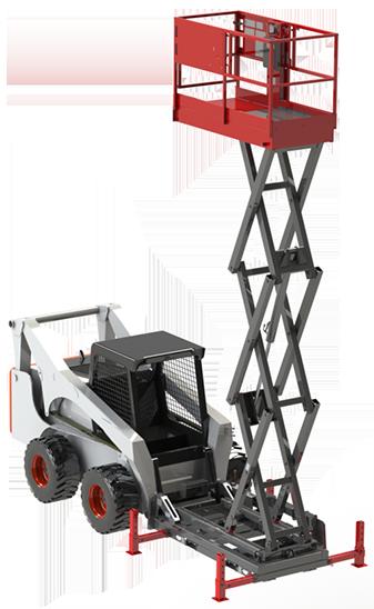 Skid Steer Scissor Lift Attachment Skid Lift