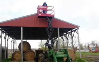 Skid Lift, Scissor Lift Attachment for Farm Tractor