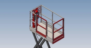 Skid-Lift 2230S Basket and Controls