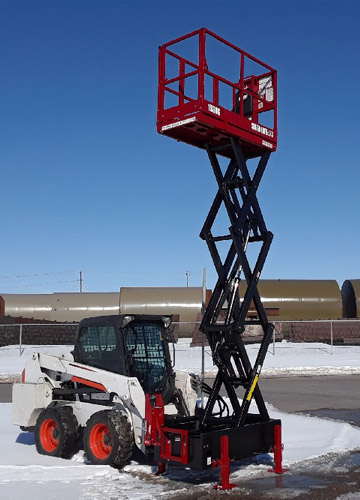 Skid Lift 1530S Model with 21 Foot Working Height