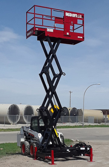 Skid Lift 2030E Model with 24 Foot Working Height