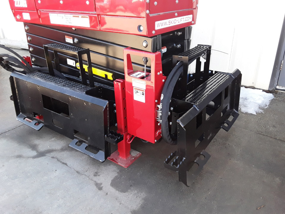 End and Side Attach Plates on Skid-Lift