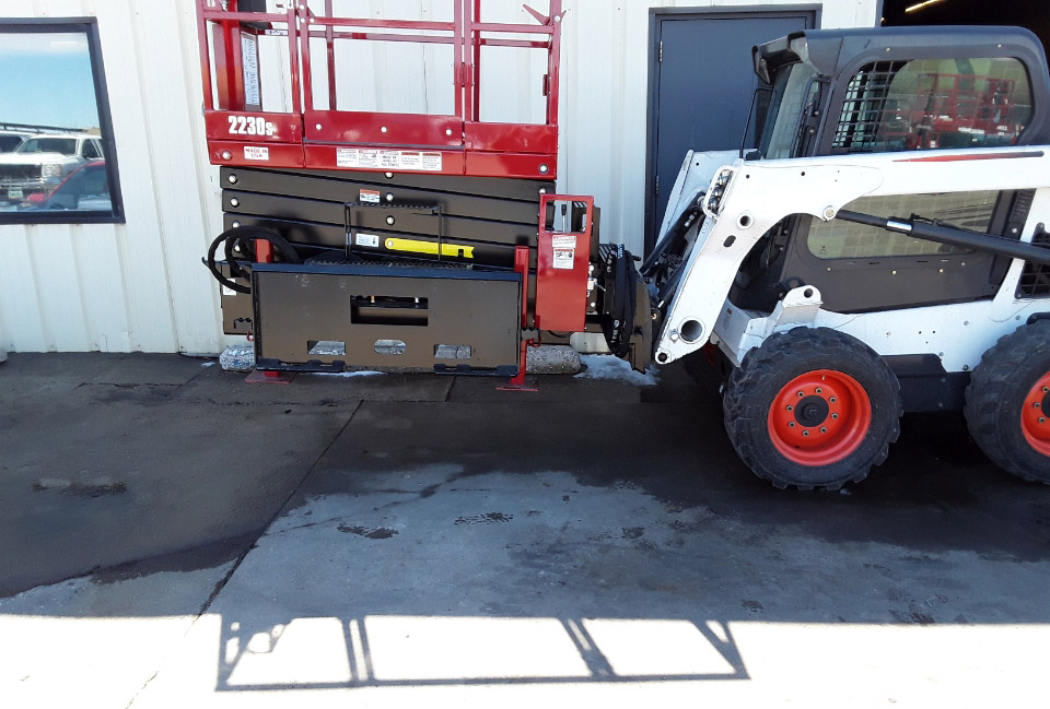 Skidsteer Scissor Lift Attachment - Skid-Lift