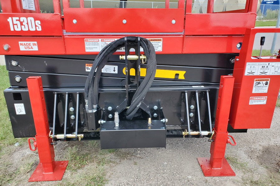 Skid-Lift Direct Attach 3-Point Plate Front View