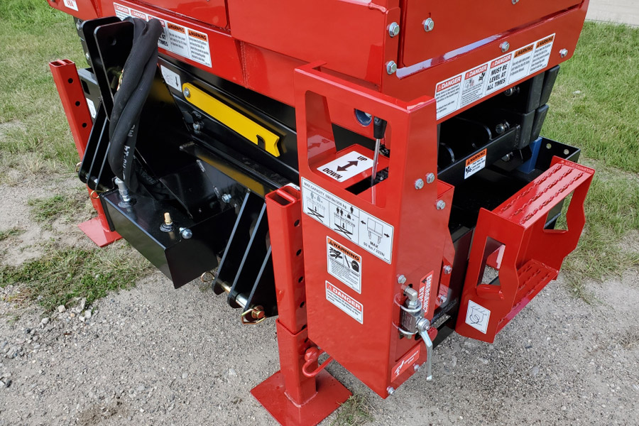 Skid-Lift Direct Attach 3-Point Plate ISO View