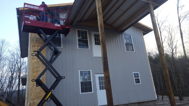 Home Construction with Skid-Lift