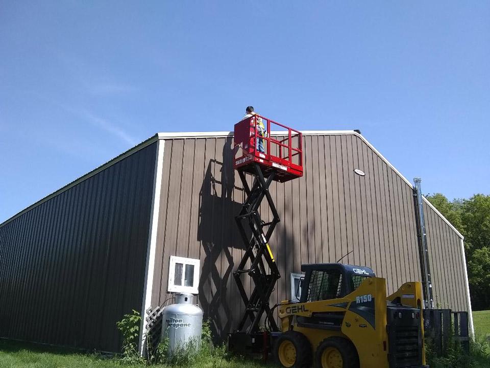 Skid-Lift Roof Work in Wisconsin