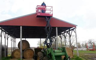 Skid Lift, Scissor Lift Attachment for Farm Tractor