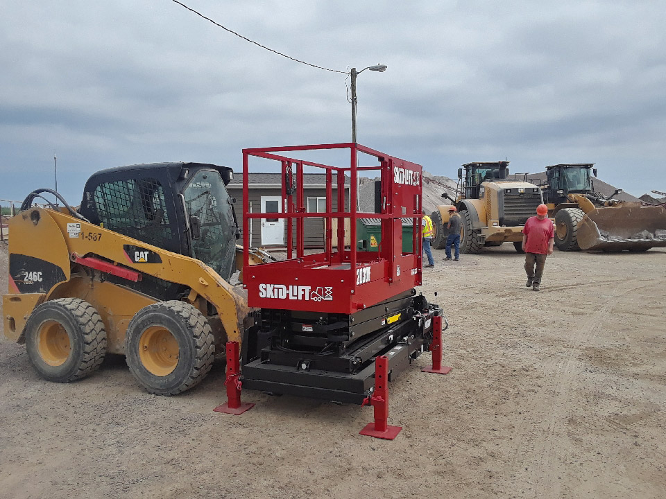 Skid-Lift on Job Site in South Dakota